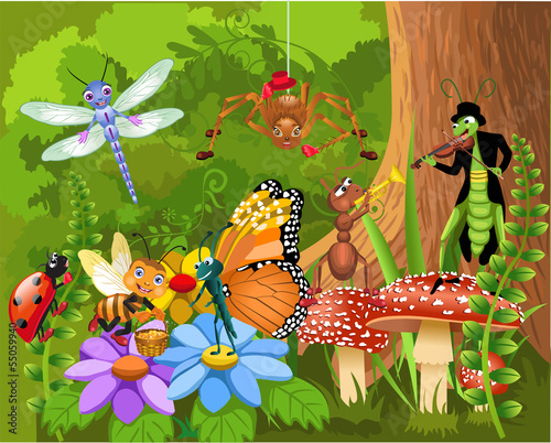 the bug world living in the forest