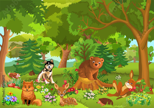 cute animals living in the forest