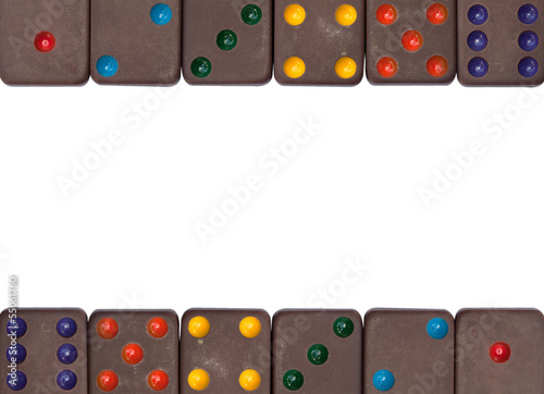 Dominoes game isolated on the white background