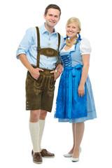 Paar in bayerischer Tracht
