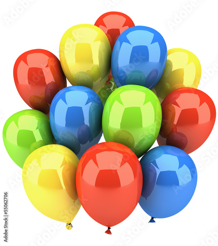 Ballons isolated on white