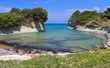Canal d'amour beach at Corfu island in Greece