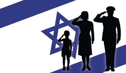Israel soldier family salut