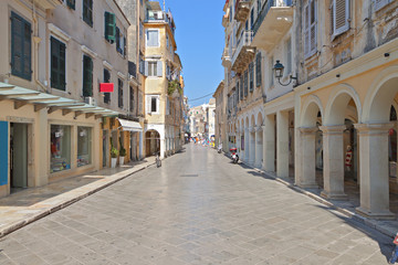 The Piazza at the old town of Corfu island in Greece