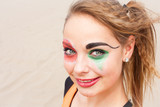 Young female Circus Performer close-up poster