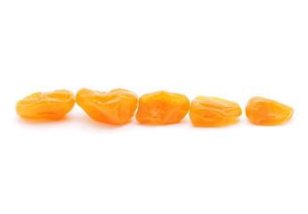 Dried tangerine on a white background