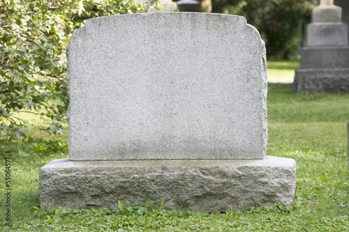 In de dag Begraafplaats Blank Headstone