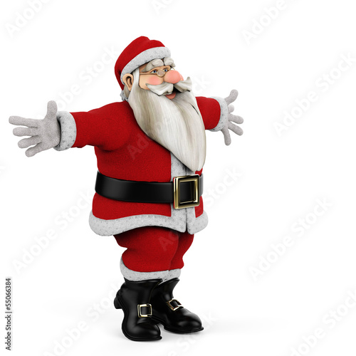 santa come on give a hug side view