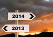 New year direction 2014 - business, life concept