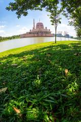 Fisheye view of Putra Mosque at Putrajaya, Malaysia