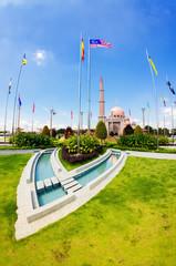 Putra Mosque at Putrajaya, Malaysia