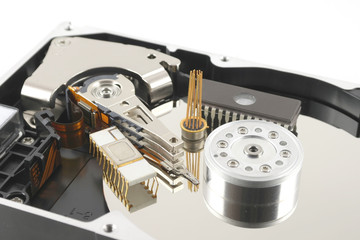 Elements of hard drive with chips