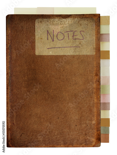Grungy Old Notebook with Tabs