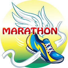 Beautifull illustration of the emblem of the marathon