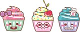 CUP CAKE KAWAII TRI 08 - LAÇO, CEREJA, CAT