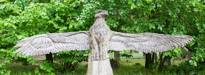 Wood craft of a eagle
