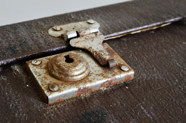 old vintage suitcase lock