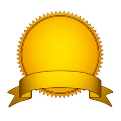 Golden Seal Stamper with Gold Ribbon