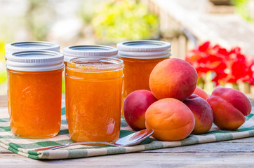Homemade apricot jam or preserves