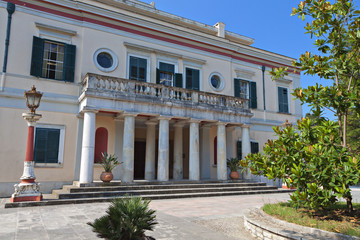 Mon Repo palace at Corfu island in Greece
