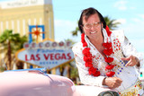 Las Vegas Elvis impersonator on the strip