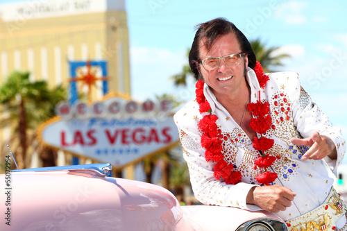 Fototapeta Las Vegas Elvis impersonator on the strip