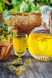 Homemade alcohol based on honey and lime