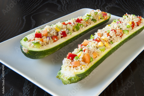 Healthy Quinoa and Vegetable Stuffed Zuchinis