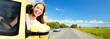 Woman car driver. - 55075173