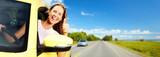 Fototapety Woman car driver.