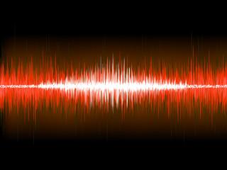 Sound waves on black background. EPS 10