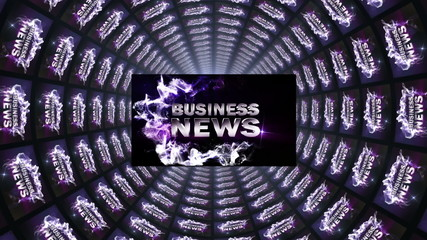 Business News in Tunnel, with White Transition