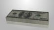 Increasing 100 dollar bill stack, income, investment symbol