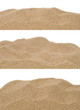 canvas print picture - pile desert sand isolated on white background