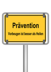 Schild Prävention