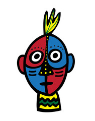Tribal Cartoon Face