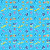 Colorful Abstract Doodles Pattern