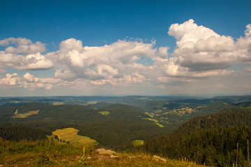 Landscape in Feldberg Germany Black Forest.