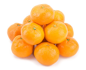 Tangerines isolated over white