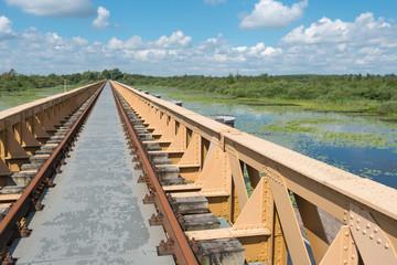 Historic riveted railway bridge
