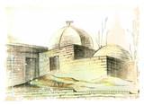 hand drawn illustration of the muslim  architecture
