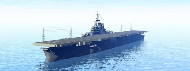 Aircraft carrier - 3D render