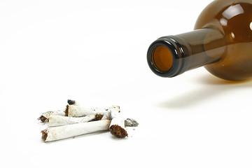 Zigaretten und Alkohol