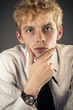 portrait of attractive young businessman
