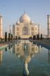 Taj Mahal and it's mirror picture