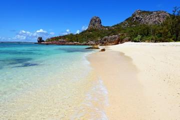 沖縄 伊是名島の美しい砂浜