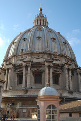 On the Petersdom's roof of St. Peter's Basilica