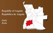 Постер, плакат: Angola Huila hervorgehoben