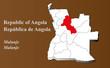 Постер, плакат: Angola Malanje hervorgehoben