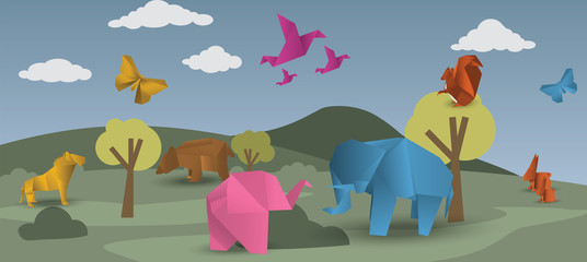 World of origami - animals